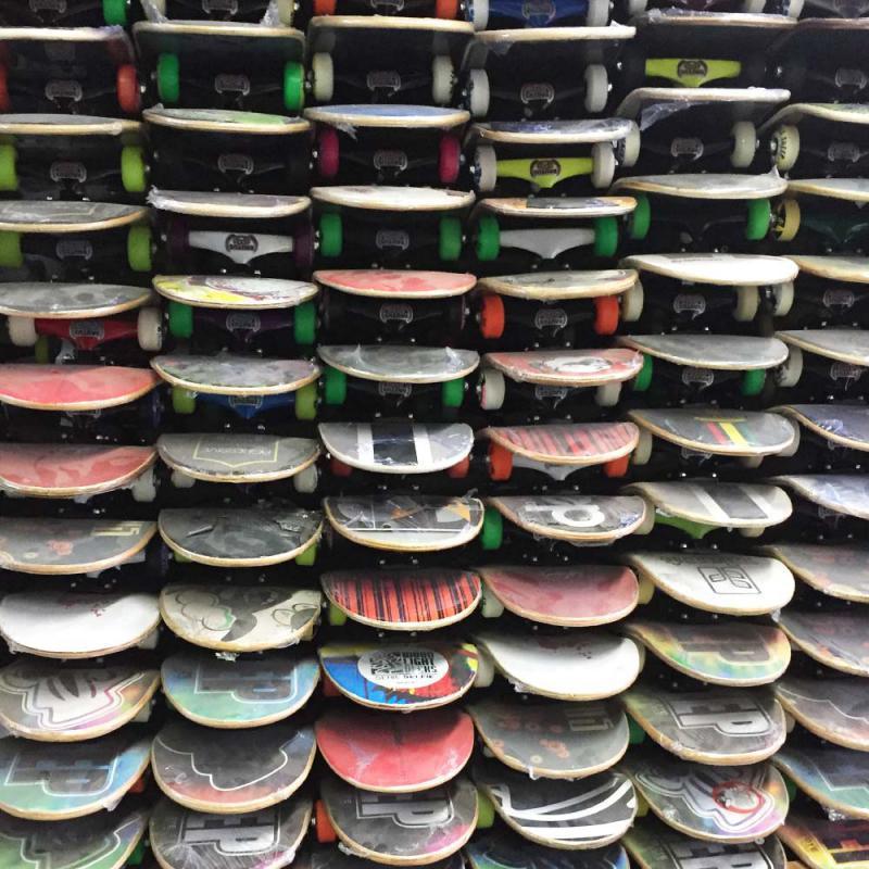 Distribuidor de skate montado